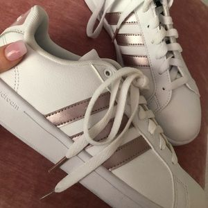 Rose Gold Adidas Cloudfoam Allstar Sneakers